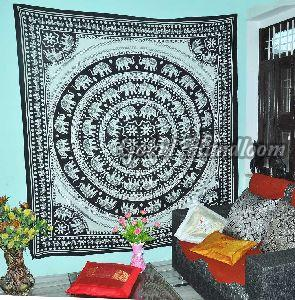 Black and White Twin Cotton Wall Hanging Tapestry