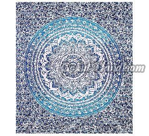 Blue Indian Ombre Cotton Wall Hanging Tapestry