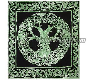 Tree of Life Good Luck Cotton Wall Hanging Tapestry