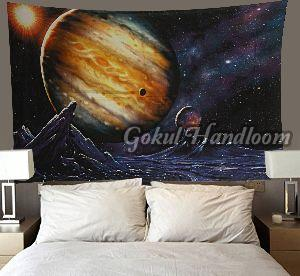Poly Cotton Earth 3D Wall Hanging Tapestry