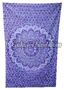 Purple Ombre Cotton Wall Hanging Tapestry