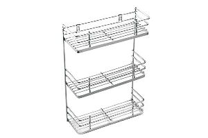 Stainless Steel Three-Tier Spice Rack