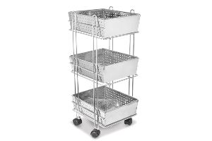 Stainless Steel Vegetable Trolley Basket