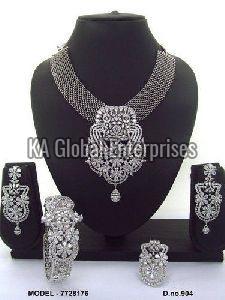 CZ Necklace and Bracelet Set