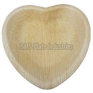 Areca Leaf Heart Shape Plate