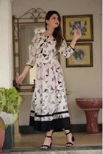 3/4th Sleeve Casual Kurti