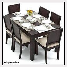 6 seat solid wood dining set