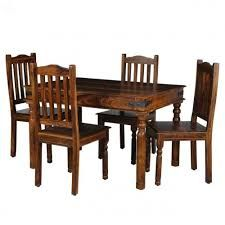 Four Seater Wooden Dining Table Set