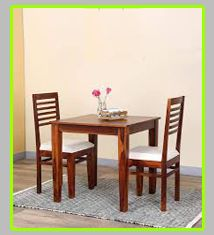 Two Seat  Wooden Dining Table Set