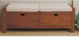 Wooden Shoe Storage Bench