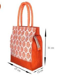 Jute Blossom Carry Bag