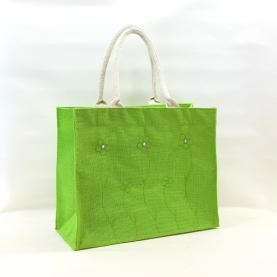 Jute Flower Carry Bag