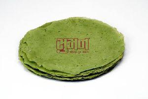 Urad Rice Green Chili Papad