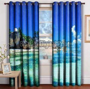 Beach Print Curtain