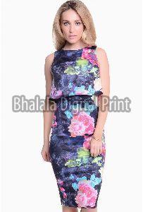 Digital Print Bodycon Dress