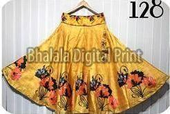 Digital Print Full Flair Long Skirt