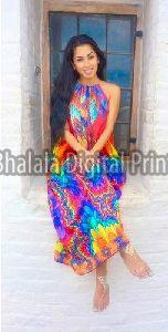 Digital Print Georgette Dress