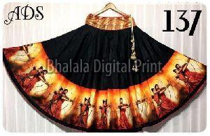 Digital Print Lehenga Skirt