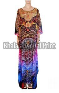 Digital Print Long Embellished Designer Kaftan