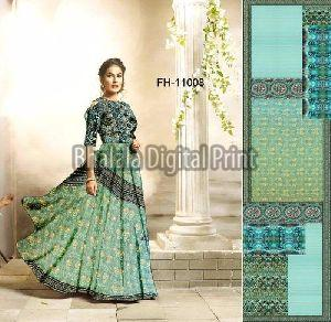 Digital Print Long Gown