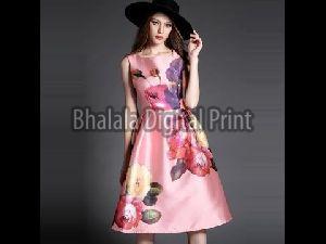 Digital Print Lycra Floral Dress