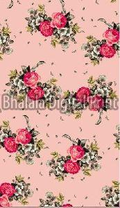 Digital Print Polyester French Crepe Fabric