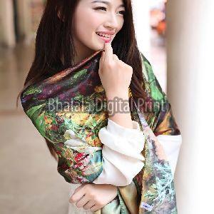 Digital Printed Silk Scarf