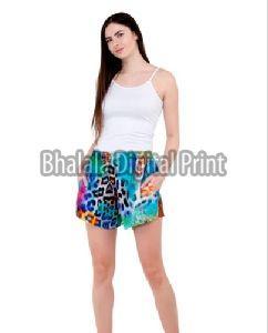 Ladies Digital Printed Cotton Shorts