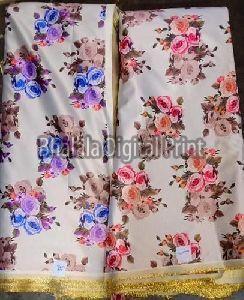 Digital Print Metallic Satin Fabric