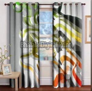 Satin Printed Curtain