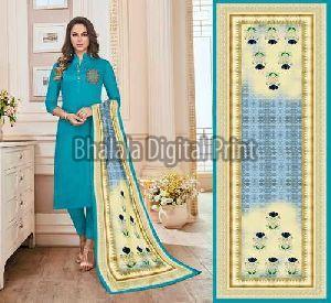 Zarna Silk Digital Printed Dupatta