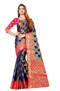 Patiala Vol 1 Kanjivaram Tussar Silk Saree