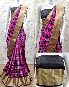 Tussar Cotton Silk Saree
