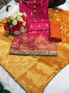 Banarasi Silk Dress Material