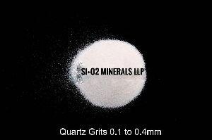 0.1 to 0.4 mm Quartz Grits