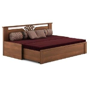 Designer Wooden Sofa Cum Bed