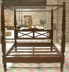 Four Poster Wooden Bed