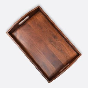 Glossy Wooden Serving Tray