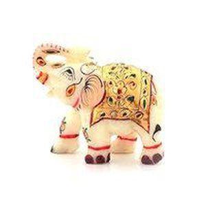 Marble Rajasthani Elephant Statue