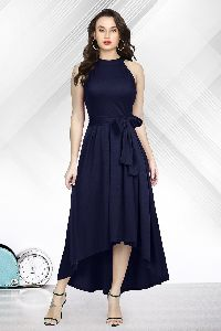 Black Knee Length Gown