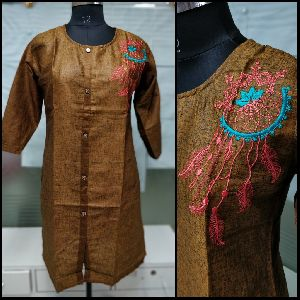 Brown Short Kurti