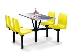 Cafeteria Table and Chair Set