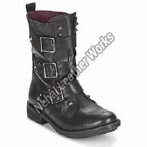 Ranger-Collector-Buckle Black Woman Shoes Boots
