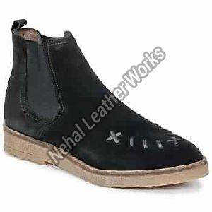Saddled Creepers Black Woman Shoes Ankle Boots