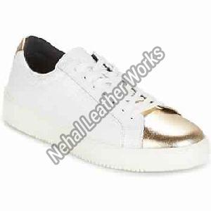 Sneakers Low Cut Basic White / Gold Women Shoes Sneakers