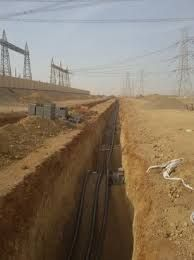 Cable Laying Trenching Work