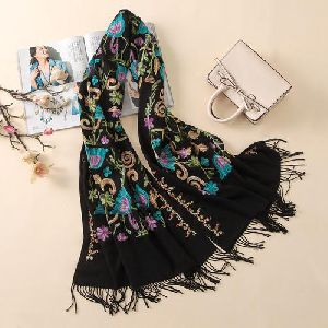 Ladies Embroidered Scarves