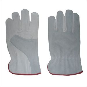 Combined Leather Driving Gloves