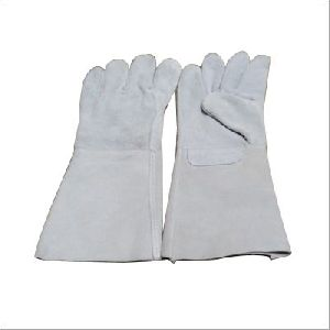 White Leather Welding Gloves