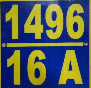 Retro Reflective Number Plate